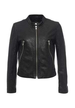Куртка кожаная Blouson BL033EWQGN40. Цвет: черный