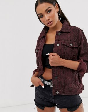 Джинсовая куртка со змеиным принтом Blank NYC-Красный NYC