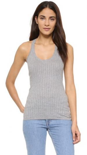 Майка со спиной-борцовкой DKNY. Цвет: hthrd granite
