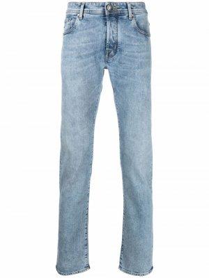 Узкие джинсы с нашивкой-логотипом Jacob Cohen. Цвет: синий