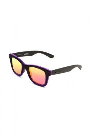 Очки солнцезащитные с линзами Italia Independent. Цвет: 009 017 фиолетовый, черный