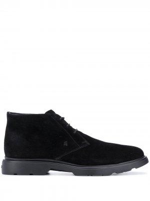 Ботинки на шнуровке Hogan. Цвет: черный