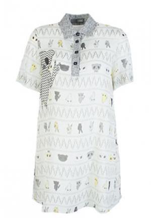 Платье GRINKO. Цвет: серый