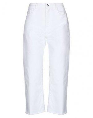 Джинсовые брюки-капри NINE:INTHE:MORNING. Цвет: белый