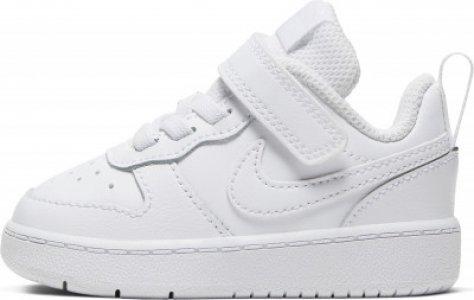 Кеды для девочек Court Borough Low 2, размер 24 Nike. Цвет: белый