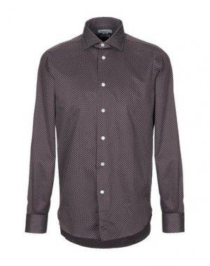 Pубашка BRANCACCIO C.. Цвет: темно-коричневый
