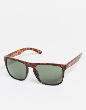 Квадратные солнцезащитные очки в черепаховой оправе -Оранжевый Jack & Jones