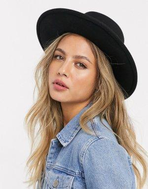 Черная фетровая шляпа -Черный цвет Boardmans