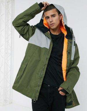 Зимняя куртка оливкового цвета Servot-Зеленый DC