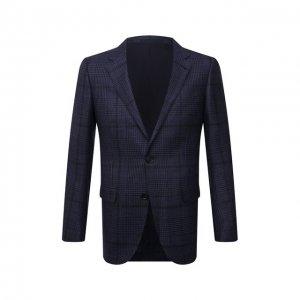 Пиджак из шерсти и кашемира Ermenegildo Zegna. Цвет: синий