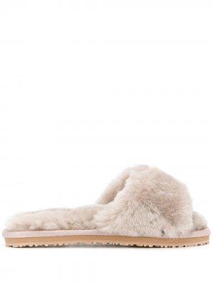Шлепанцы с открытым носком Mou. Цвет: серый