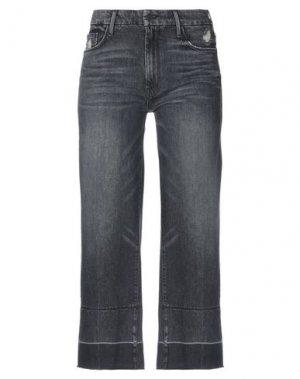 Джинсовые брюки-капри MOTHER. Цвет: черный