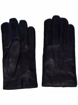 Перчатки с вышитым логотипом PAUL SMITH. Цвет: синий