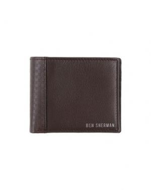 Бумажник BEN SHERMAN. Цвет: хаки
