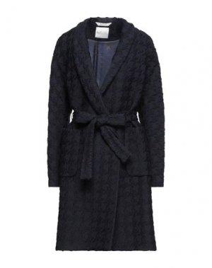 Пальто BOTTEGA MARTINESE. Цвет: темно-синий