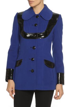 Пальто LANITA. Цвет: синий