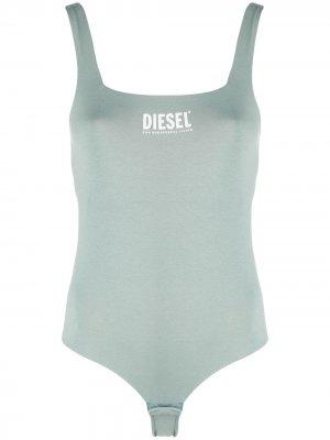 Боди с логотипом Diesel. Цвет: зеленый