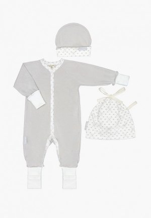 Комплект детский Lucky Child. Цвет: серый