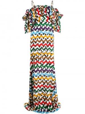 Платье макси с открытыми плечами Edeline Lee