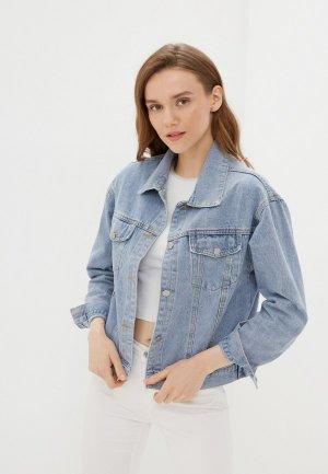 Куртка джинсовая Miss Gabby. Цвет: голубой