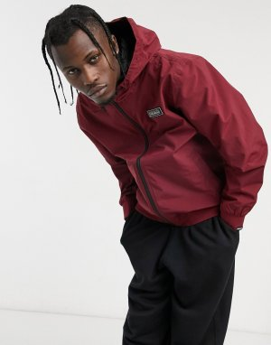 Бордовая куртка с нашивкой -Красный Napapijri