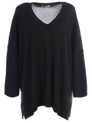 Шерстяной пуловер ERMANNO SCERVINO. Цвет: черный
