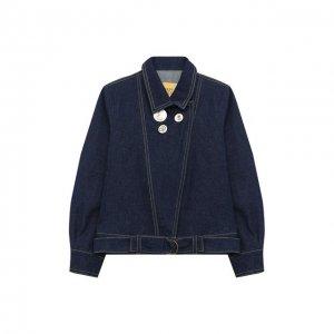 Джинсовая куртка Mumofsix. Цвет: синий