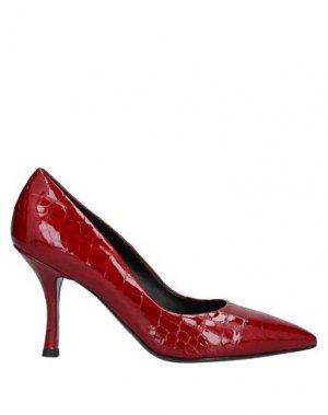 Туфли TIFFI. Цвет: кирпично-красный