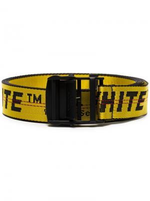 Ремень с логотипом Off-White. Цвет: желтый