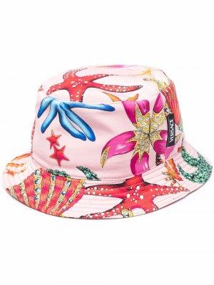 Панама с принтом Versace. Цвет: розовый