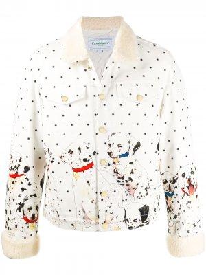 Куртка в горох с принтом Dalmation Casablanca. Цвет: белый