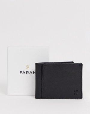 Нейлоновый бумажник цвета хаки Farah. Цвет: зеленый