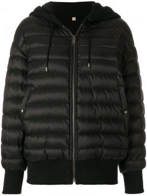 Куртка-бомбер с капюшоном Burberry. Цвет: черный