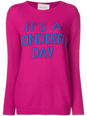 Свитер Its a wonderful day Alberta Ferretti. Цвет: розовый
