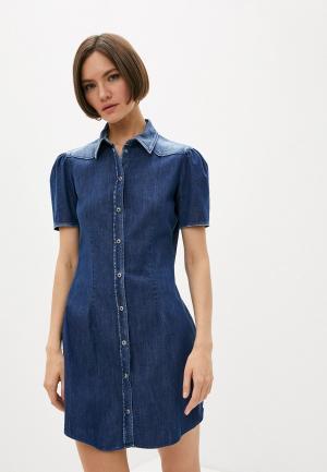 Платье джинсовое Dondup. Цвет: синий