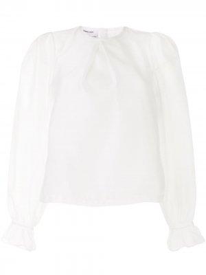 Блузка с застежкой на спине Designers Remix. Цвет: белый