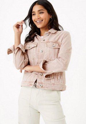 Куртка джинсовая Marks & Spencer. Цвет: розовый