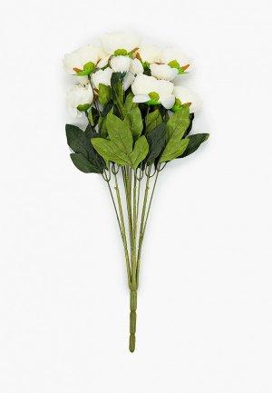 Растение искусственное Nothing but Love Пионы, ветка. Цвет: белый