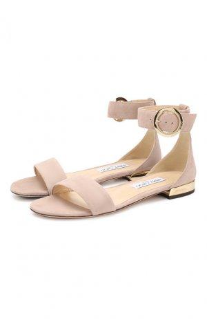 Замшевые сандалии Jamie Jimmy Choo. Цвет: светло-розовый