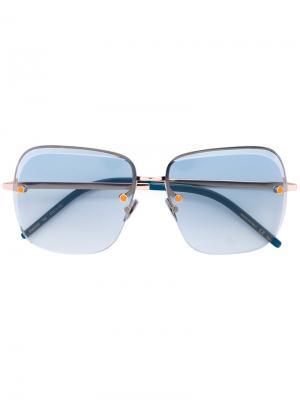 Солнцезащитные очки с градиентными линзами Pomellato. Цвет: синий