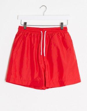 Oversized-шорты -Красный Hummel