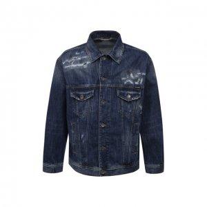 Джинсовая куртка Dolce & Gabbana. Цвет: синий