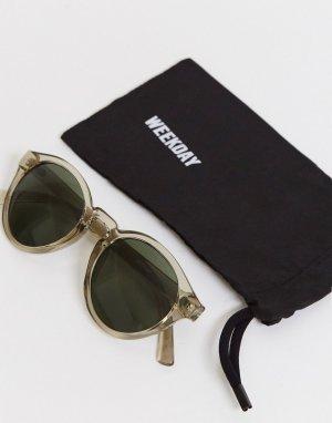 Солнцезащитные очки в круглой оправе -Neutral Weekday