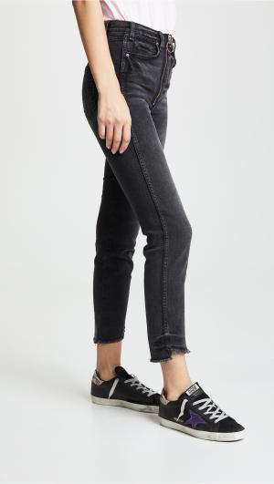 Slim Jeans with Exposed Zippers McGuire Denim