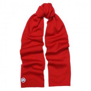 Шерстяной шарф Canada Goose. Цвет: красный