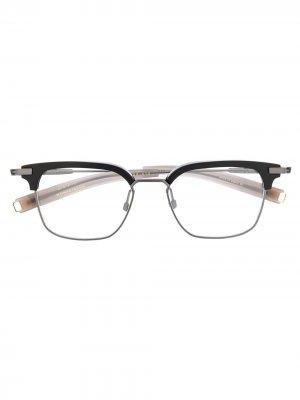 Очки LSA-410 в квадратной оправе Dita Eyewear. Цвет: серебристый