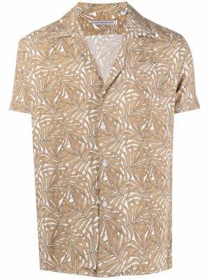 Рубашка с короткими рукавами и принтом Grey Daniele Alessandrini. Цвет: нейтральные цвета
