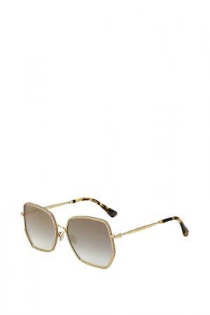 Солнцезащитные очки Jimmy Choo. Цвет: золотой