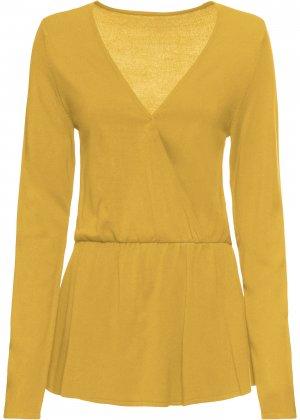 Пуловер bonprix. Цвет: желтый