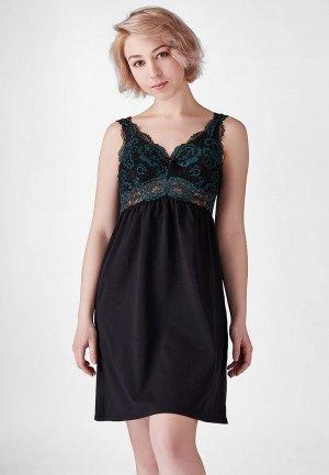 Сорочка ночная Lowry Collection. Цвет: черный